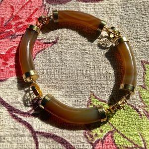 Vintage Agate Stone Kanji Bracelet